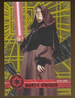 Image of 2017 Topps Star Wars High Tek Gold Rainbow Foil #2 Darth Sidious 16/50