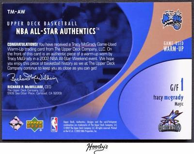 Image of 2002-03 Upper Deck All-Star Authentics Warm-Ups Tracy McGrady Jersey Relic MAGIC
