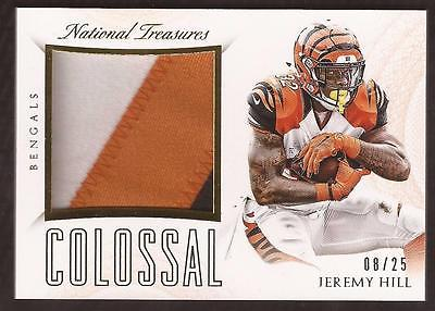 JC 2015 National Treasures Colossal Materials Jeremy Hill 3-Color PATCH 08/25