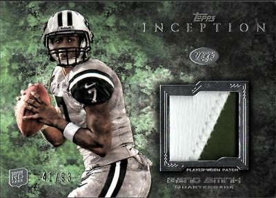ZB) 2013 TOPPS INCEPTION GENO SMITH #RP-GS RC ROOKIE 2 COLOR PATCH #41/93 JETS