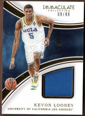ET 2016-17 Immaculate Collection Collegiate Kevon Looney Jersey 09/99 UCLA
