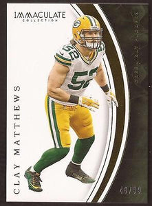 ET 2016 Immaculate Collection #72 Clay Matthews 46/99 PACKERS