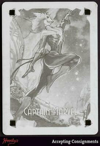 2018 Marvel Masterpieces Printing Plate #94 Captain Marvel CG TRUE 1/1