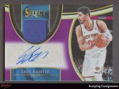 Image of 2018-19 Select Prizms Purple Enes Kanter Jersey Autograph AUTO 74/99 KNICKS
