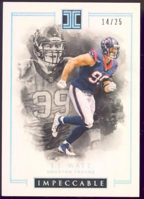 2016 Panini Impeccable Silver #43 J.J. Watt #14/25 TEXANS