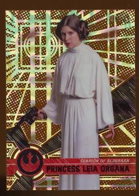 Image of 2017 Topps Star Wars High Tek Orange Magma Diffractor Princess Leia Organa 09/25