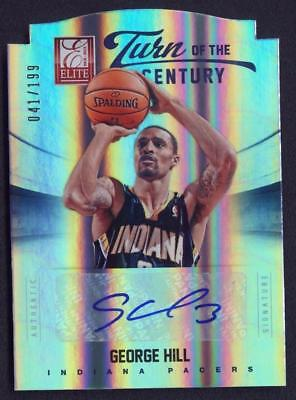 VM) 2012-13 Panini Elite Turn of The Century George Hill Autograph AUTO 041/199
