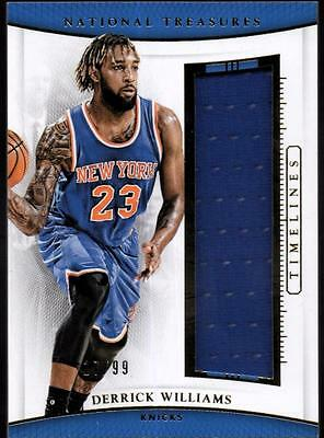 JC  	2015-16 Panini National Treasures Timelines #12 Derrick Williams#17/99