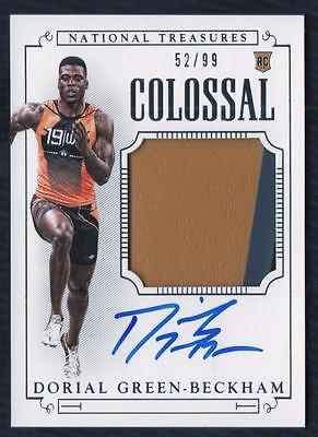 ET 2015-16 National Treasures Collegiate Dorial Green-Beckham PATCH AUTO 52/99