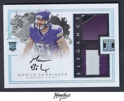 2016 Impeccable Elegance Rookie Moritz Bohringer Helmet & PATCH AUTO 14/15 RC