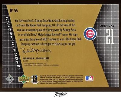 Image of 2002 Ultimate Collection Game Jersey #SS Sammy Sosa Jersey Relic 050/199 CUBS