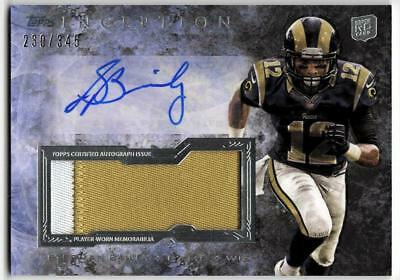 ZB) 2013 INCEPTION STEDMAN BAILEY RC JUMBO PATCH AUTO #230/345 RAMS