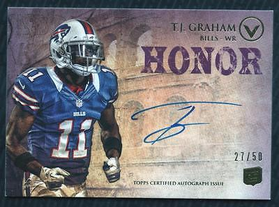 JC 2012 Topps Valor Autographs Courage #VATJG T.J. Graham AUTO 27/50