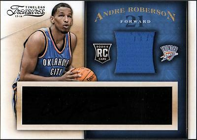 VM 	2013-14 Timeless Treasures #108 Andre Roberson JSY AU RC