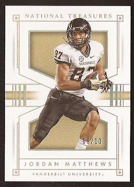 ET  2016 Panini National Treasures Collegiate Gold #62 Jordan Matthews 08/10