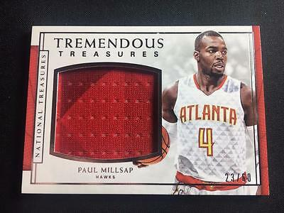 ET) 2016-17 National Treasures Tremendous Treasures Paul Millsap Jersey 23/60