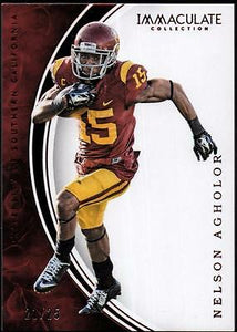 VM 	2016 Immaculate Collection Collegiate Red #43 Nelson Agholor #21/25