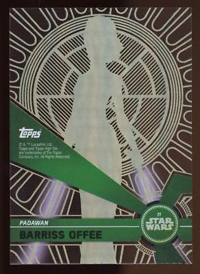 Image of 2017 Topps Star Wars High Tek  BARRISS OFFEE #11 PATTERN 5 FORM 1