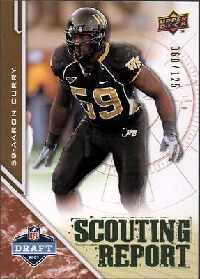 MC 	2009 Upper Deck Draft Edition Bronze 125 #211 Aaron Curry SR