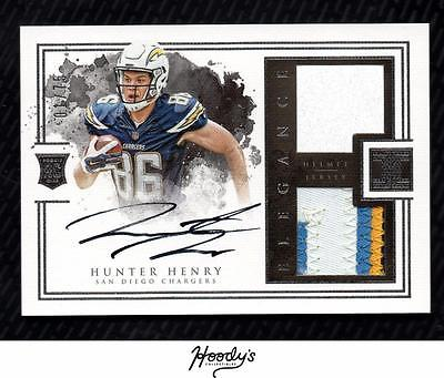 2016 Panini Impeccable #160 Hunter Henry Helmet PATCH AUTO 01/75 FIRST 1/1 RC