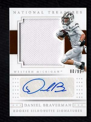 VM) 2016 National Treasures Collegiate #129 Daniel Braverman Jersey AUTO 80/99