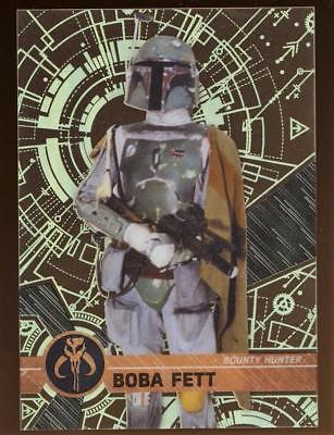 Image of 2017 TOPPS HI TEK STAR WARS BOBA FETT #36 PATTERN 3 FORM 1