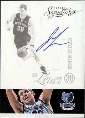 ZB) 2012-13 PANINI SIGNATURES BKB JON LEUER #54 ON CARD AUTO GRIZZLIES