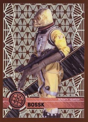 Image of 2017 TOPPS HIGH TEK STAR WARS BOSSK  #37 PATTERN 2 FORM 1