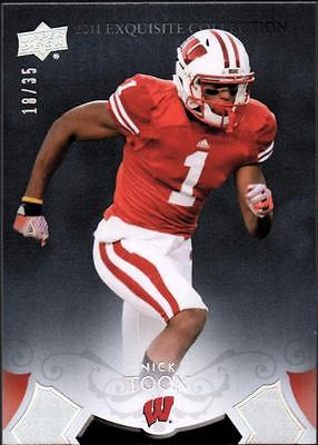 PH) 2011 Exquisite Collection Draft Picks Silver #ERNT Nick Toon #10/35