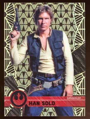 Image of 2017 TOPPS HIGH TEK STAR WARS HAN SOLO #14 PATTERN 2 FORM 1