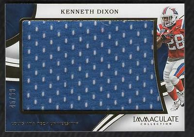 ET) 2016 Immaculate Collection Collegiate Kenneth Dixon Jumbo Jersey Relic 45/99