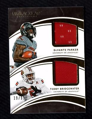 VM) 2016 National Treasures College Devante Parker/Teddy Bridgewater Jersey /99