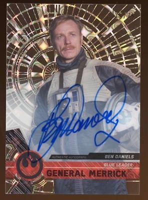 Image of 2017 Topps Star Wars High Tek Autograph Ben Daniels/General Merrick AUTO 75/75