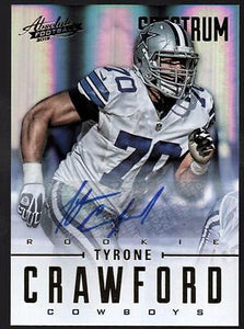 PH) 2012 Absolute Spectrum Gold Autographs  Tyrone Crawford #247/299 AUTO