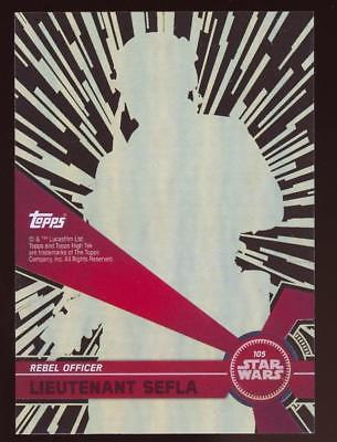 Image of 2017 TOPPS HIGH TEK STAR WARS LIEUTENANT SEFLA  #105 PATTERN 2 FORM 2
