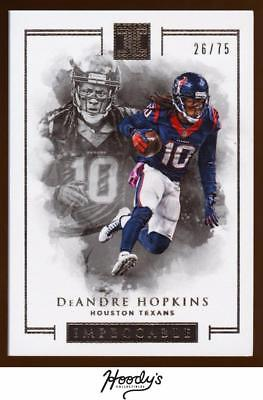 SM) 2016 Panini Impeccable Silver #42 DeAndre Hopkins 08/25 TEXANS