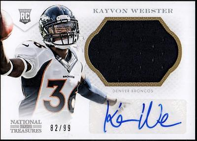JC  2013 Panini National Treasures Rookie Signature   Kayvon Webster  #82/99