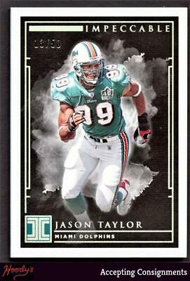 Image of 2019 Panini Impeccable Silver #8 Jason Taylor 13/50