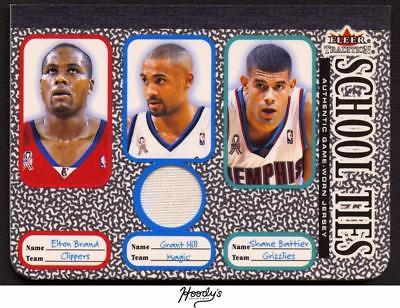 2002-03 Fleer Traditon School Ties Brand, Battier, Grant Hill Jersey Relic