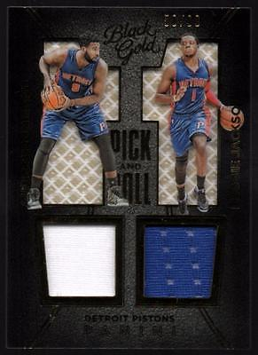 VM  2015-16 Panini Black Gold Pick and Roll Materials  Drummond/ Jackson #58/99