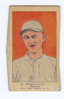 1923 W515 BASEBALL STRIP CARD HAND CUT EVERETT SCOTT #46 YANKEES GOOD #1