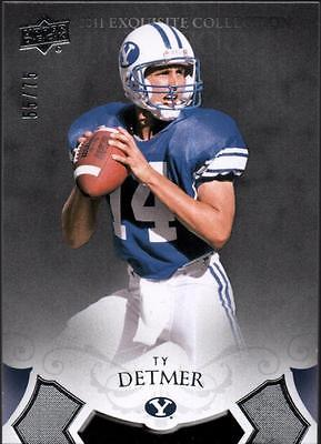 PH) 	2011 Exquisite Collection #51 Ty Detmer #55/75