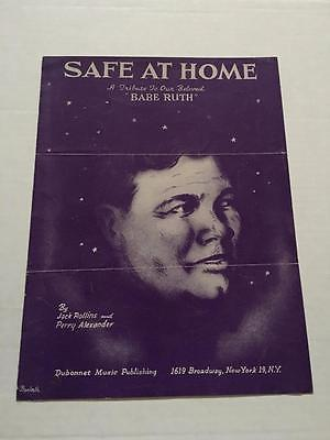 "VM Babe Ruth ""Safe At Home"" Sheet music Booklet 1948 YANKEES"