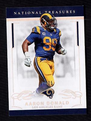 ET) 2016 Panini National Treasures Holo Silver #55 Aaron Donald 21/25 RAMS