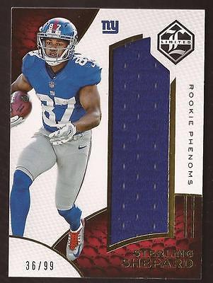 MW) 2016 Limited Rookie Phenoms Sterling Shepard Jersey 36/99 RC
