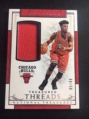 ET) 2016-17 National Treasures Treasured Threads #36 Jimmy Butler Jersey 05/49