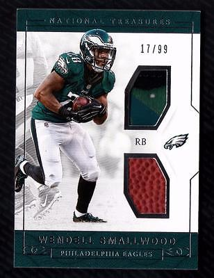 ET) 2016 National Treasures Wendell Smallwood Rookie Dual Relic 17/99 RC