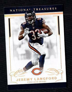 ET) 2016 Panini National Treasures Holo Gold #17 Jeremy Langford 06/10 BEARS