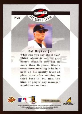 1997 SCORE CAL RIPKEN JR #7 ALL SCORE TEAM BALTIMORE ORIOLES