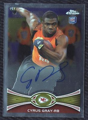 JC 2012 Topps Chrome Rookie Autographs #49 Cyrus Gray AUTO CHIEFS